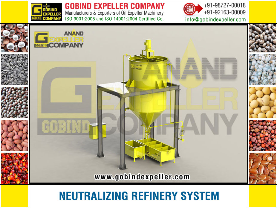 Neutralizing Refinery manufacturers exporters suppliers Sellers Distributors Dealers in India Punjab Ludhiana