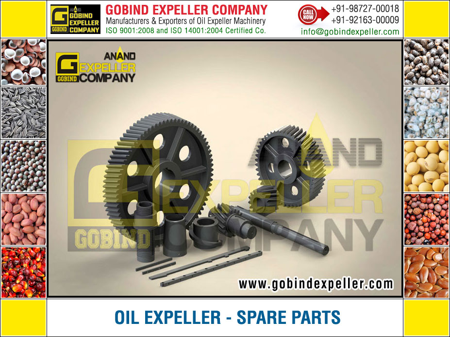 Oil Expeller Spare Parts manufacturers exporters suppliers Sellers Distributors Dealers in India Punjab Ludhiana