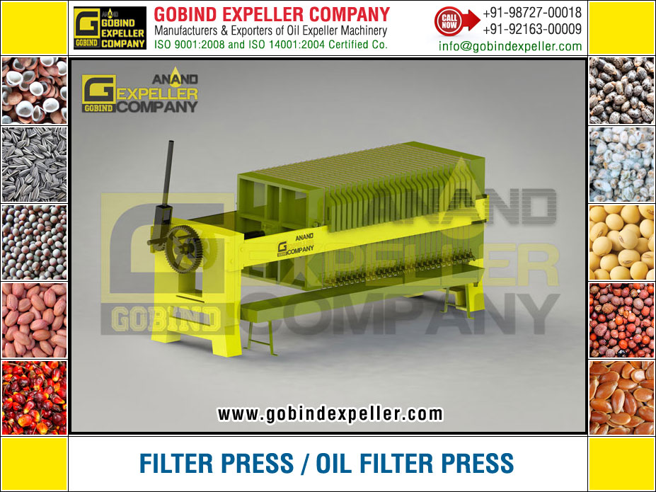 Oil Filter Press manufacturers exporters suppliers Sellers Distributors Dealers in India Punjab Ludhiana