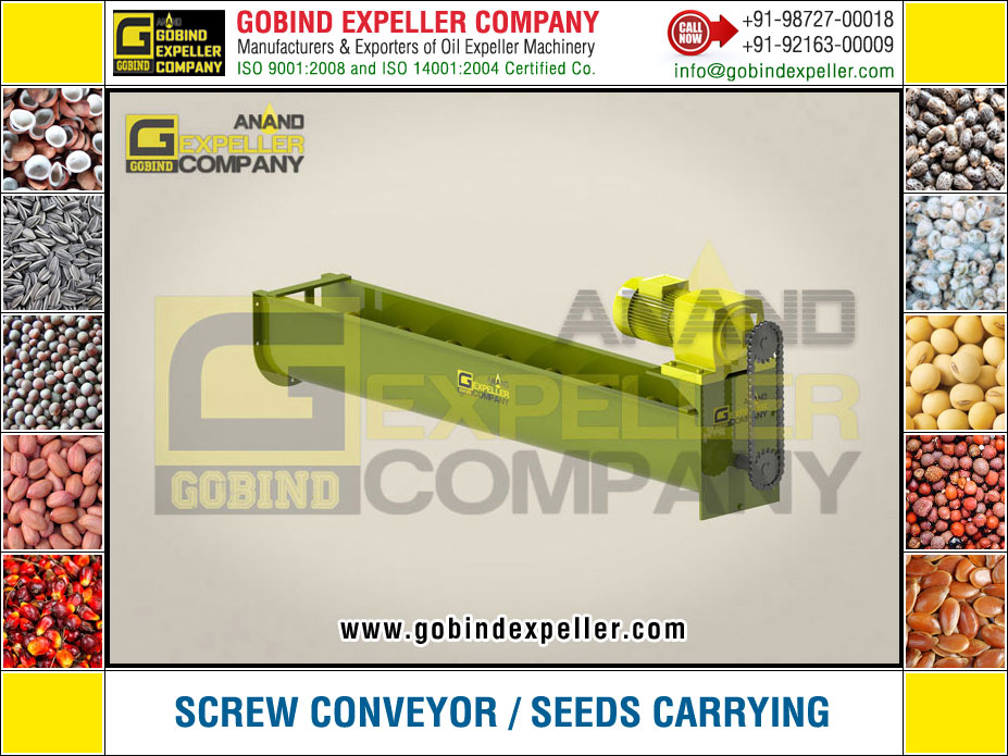 Screw Conveyor - Seeds Carrying Machine manufacturers exporters suppliers Sellers Distributors Dealers in India Punjab Ludhiana