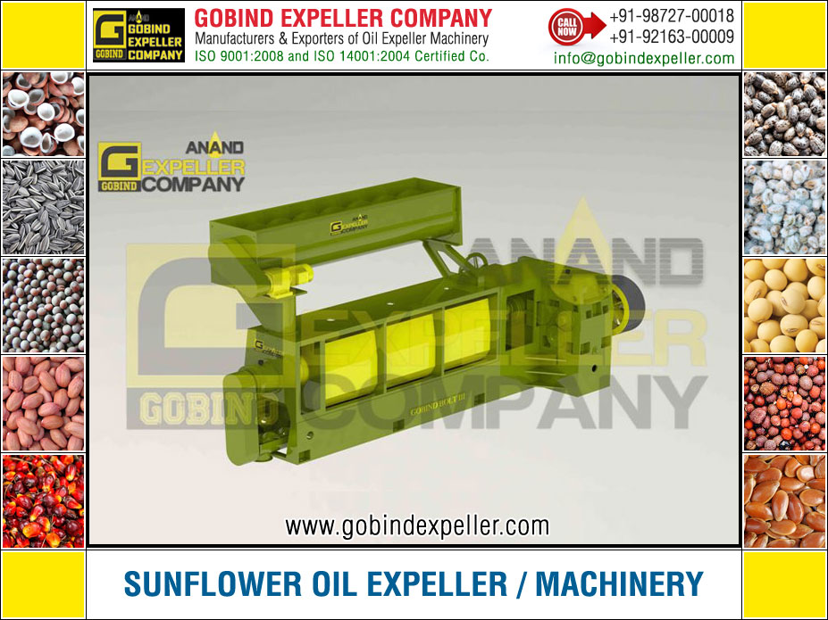 Sunflower Oil Expeller Machine manufacturers exporters suppliers Sellers Distributors Dealers in India Punjab Ludhiana